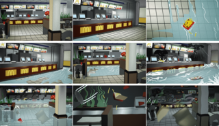 Storyboarding Flooding Macdonalds by Superflex
